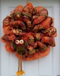 fall deco mesh wreath ideas inspiring autumn decor for the house