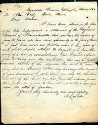lincoln u0027s letter to lydia bixby who lost 5 sons in war follow the