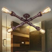 creative 4 light metal fixture industrial chandelier lighting