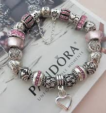 sterling silver european bead bracelet images Pink quot language of love quot authentic pandora sterling silver 925 jpg