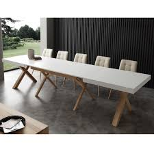 Extendable by White Extendable Dining Table Rico With Solid Wood Frame