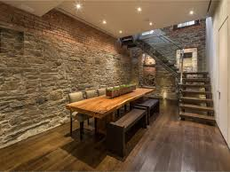 dining room great rustic dining room tables around brick wall
