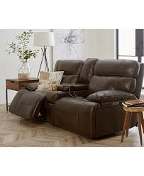 Leather Electric Reclining Sofa Barington Leather Power Reclining Sofa With Power Headrest And Usb