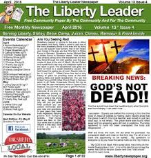 Backyard Grill Climax Nc Liberty Leader Newspaper January 2016 By Kevin Bowman Issuu