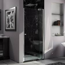 34 Shower Door Shop Dreamline 33 In To 34 In W Frameless Chrome Pivot