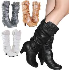 womens boots heels white leather boots ebay