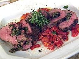 shaker herb marinated spinach stuffed whole beef tenderloin