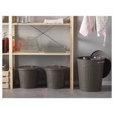 in cabinet trash can ikea knodd bin with lid gray gallon 0405550