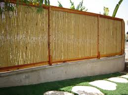 Bamboo Blinds For Porch by Exterior Natural Bamboo Wall Covering Standing On White Concetre