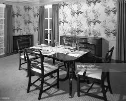 dining room tables chicago furniture display at marshall field u0026 company pictures getty images