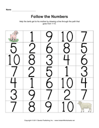 maze numbers u2014 instant worksheets