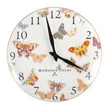 Garden Wall Clocks by Buy Mackenzie Childs Butterfly Garden Clock White Amara