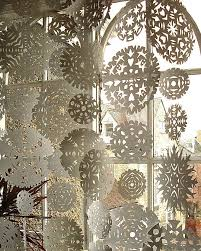 snowflake curtain u2014 how to christmas window display paper