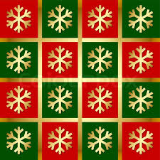 christmas pattern red green golden snowflake pattern on red green and gold background stock