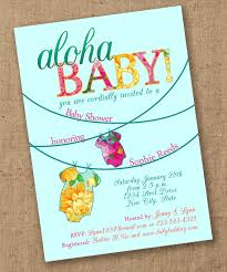Baby Invitation Card Luau Baby Shower Invitations Kawaiitheo Com