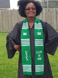 custom graduation stole and white graduation kente stole