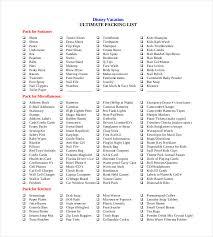 packing list template 30 free templates free u0026 premium templates