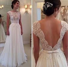 backless lace wedding dresses aolanes vintage lace sleeve backless lace wedding dress 2016