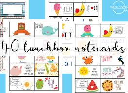 free lunchbox notes 40 free printable notecards envy