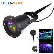 Christmas Outdoor Light Projector by Floureon Rgb Led Dynamic Garden Starry Laser Lawn Light Christmas