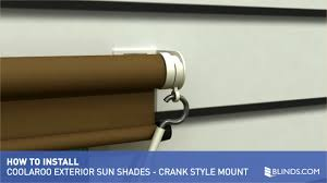Blinds For Slanted Windows Coolaroo Exterior Sun Shade Installation Overview Crank Style