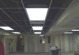 ceiling noticeable basement drop ceiling lighting options