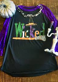 halloween plus size wicked hat broom baseball t shirt bellelily