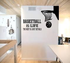basketball is life wall decal basketball wall decor zoom