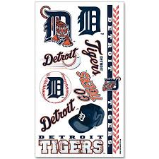detroit tigers official mlb 4 inch x 7 inch temporary tattoos by