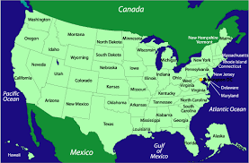 the united states of america and neighbouring countries map map of of us states and other countries business insider when