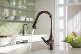 rubbed bronze kitchen faucet moen 7594orb arbor single handle high arc pulldown kitchen faucet