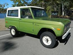 1973 ford bronco uncut original paint limestone green for