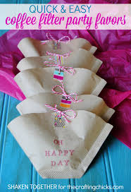 Easy Favors by Easy Coffee Filter Favors Bakers Twine Washi