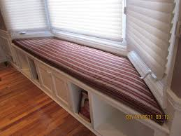 Under Window Storage Bench by Hand Crafted Bay Window Seat Cushion With Matching Pillows By