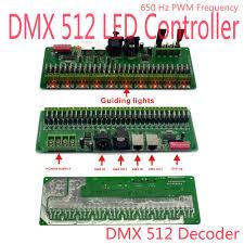 led strip light controller 30 channel 27channel easy rgb led strip controller dmx decoder
