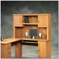sauder orchard computer desk with hutch carolina oak sauder orchard computer desk orchard large wood