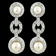 earrings uk pearl encircled drop earrings pearl drop bridal earrings