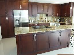brown stained kitchen cabinets contemporary kitchen cabinetry cherry brown stain finish