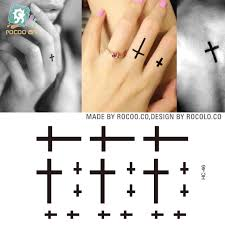 5 pcs waterproof of and small cross finger