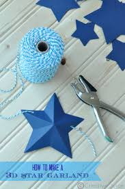 how to make a 3d star garland by mindy cone creative juice