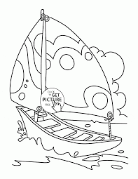 nice sailing boat coloring page for kids transportation coloring