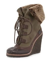 ugg s emalie wedge boots black country attire burch fairfax shearling lined wedge boot espresso olive