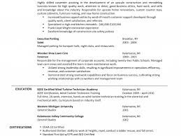 Sample Resume For Lawn Care Worker by Carpenters Resume Objective Virtren Com