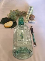 wine bottle platter wine bottle platter turquoise seaglass wine theme debs