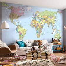 map of the world wall mural r899 95 size 1 75m x 1 15m in map of the world wall mural r899 95 size 1 75m x