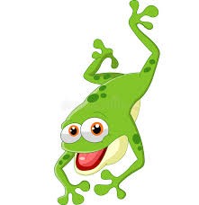 cute frog jumping stock vector image of frog template 59492880