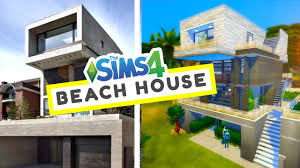 stacked beach house the sims 4 house building youtube