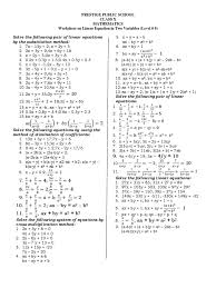 Cross Multiplication Worksheets Linear Equation In Two Variables Speed Equations