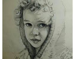 pencil sketch etsy