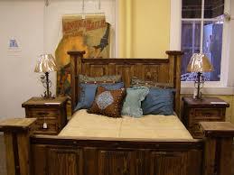 modern master design bedroom idea with black bed frame light brown